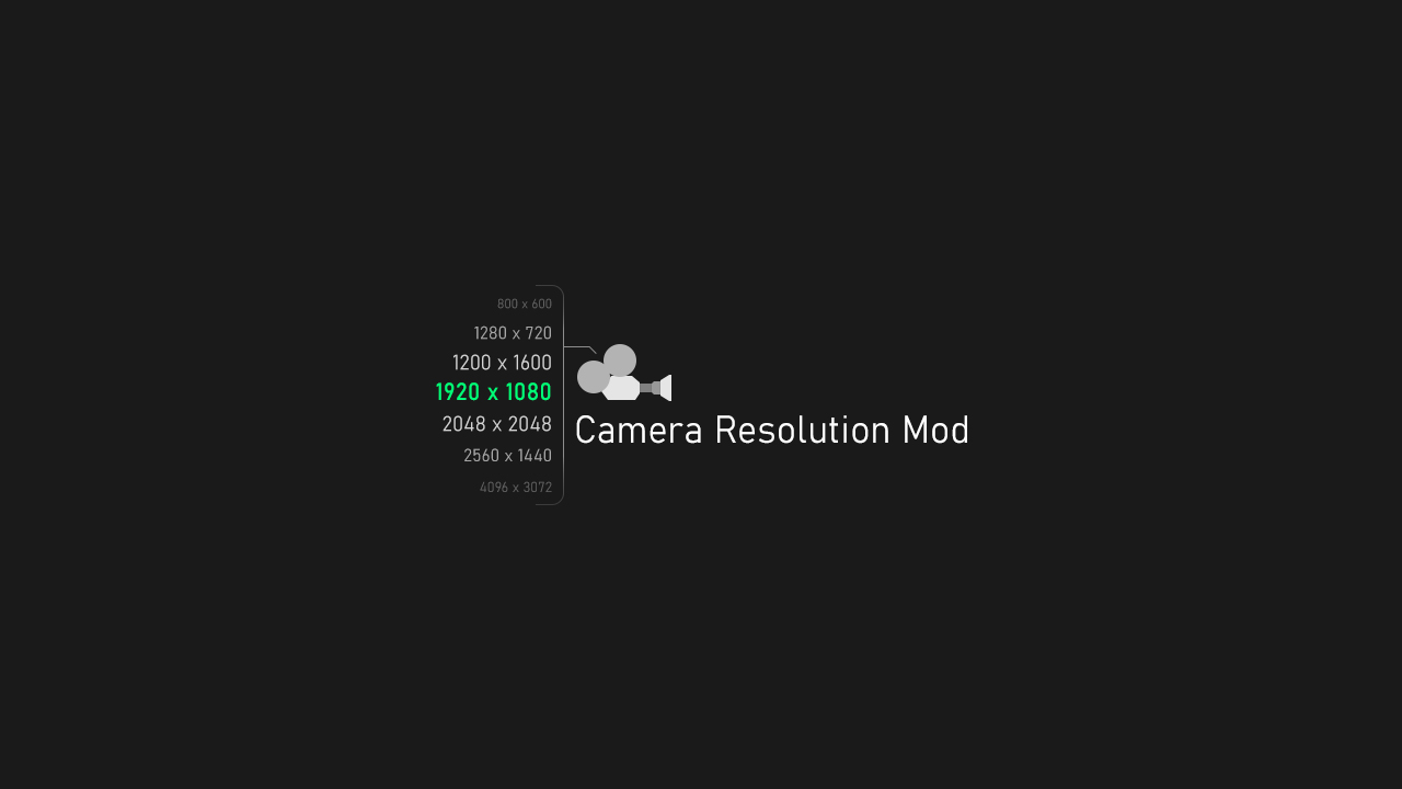 Camera Resolution Mod